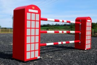 Traditional telephone box jump